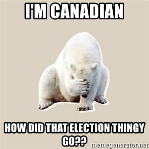 Bad RPer Polar Bear - I'm canadian How did that election thingy go??