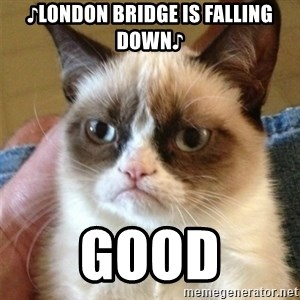 Grumpy Cat  - ♪London bridge is falling down♪ Good