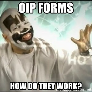 Insane Clown Posse - OIP forms how do they work?