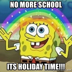 Bob esponja imaginacion - No more school  its holiday timE!!!