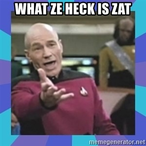 what  the fuck is this shit? - What ze heck is zat