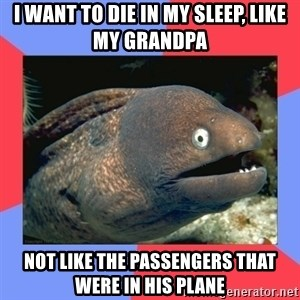 Bad Joke Eels - i want to die in my sleep, like my grandpa not like the passengers that were in his plane