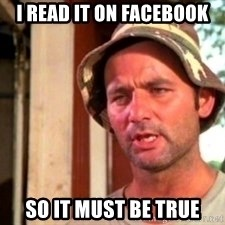 Bill Murray Caddyshack - I read it on facebook so it must be true