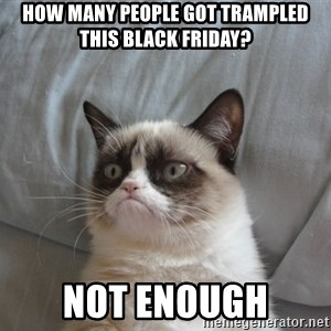 Grumpy cat good - How many people got trampled this black friday? Not enough