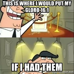 if i had one doubled - This is where I would put my Gloro 16.1 If I had them