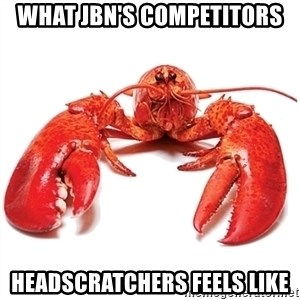 Unable to Relax and Have Fun Lobster - What JBN's competitors headscratchers feels like