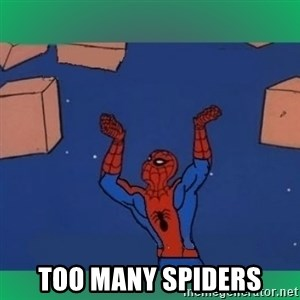 60's spiderman -  too many spiders