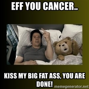 ted fuck you thunder - EFF YOU CANCER.. Kiss my big fat ass, you are done!
