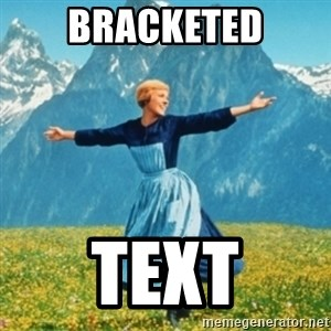 Sound Of Music Lady - Bracketed Text
