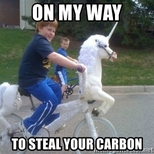 unicorn - On my way to steal your carbon