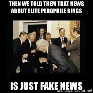 Rich Men Laughing - then we told them that news about elite pedophile rings is just fake news