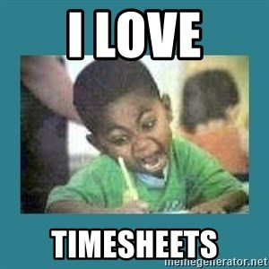 I love coloring kid - I love Timesheets