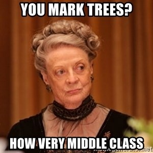 Dowager Countess of Grantham - You mark trees? How very middle class