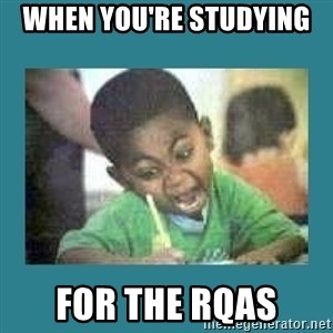 I love coloring kid - When you're studying  for the RQAs