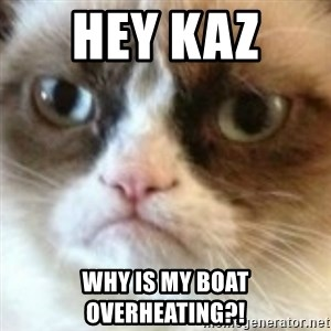 angry cat asshole - Hey Kaz  Why is my boat overheating?!