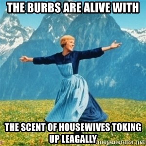 Sound Of Music Lady - The burbs are alive with the scent of housewives toking up leagally