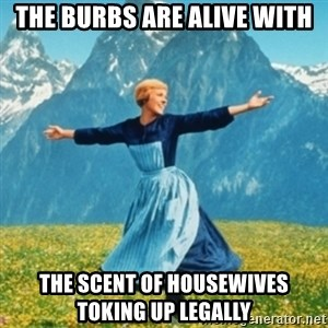 Sound Of Music Lady - The burbs are alive with the scent of housewives toking up legally