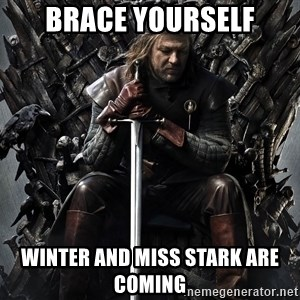 Eddard Stark - BRACE YOURSELF WINTER AND MISS STARK ARE COMING