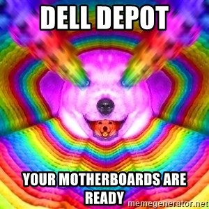 Final Advice Dog - Dell Depot Your Motherboards are ready