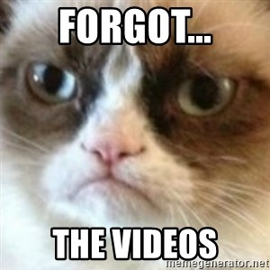 angry cat asshole - forgot... the videos