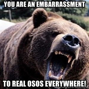 Bear week - You are an embarrassment To real Osos everywhere!