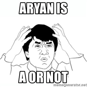 wtf jackie chan lol - ARYAN IS A OR NOT