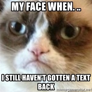 angry cat asshole - My face when. .. I still haven't gotten a text back
