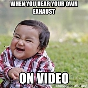 evil asian plotting baby - When you hear your own exhaust on video