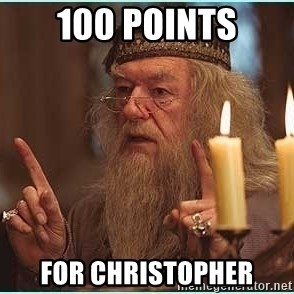 dumbledore fingers - 100 Points For Christopher