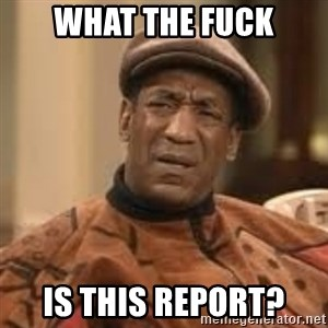 Confused Bill Cosby  - what the fuck is this report?