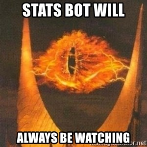 Eye of Sauron - STATS BOT WILL ALWAYS BE WATCHING