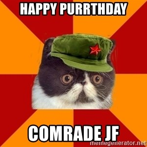 Communist Cat - Happy purrthday Comrade JF