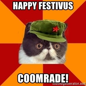Communist Cat - happy festivus coomrade!