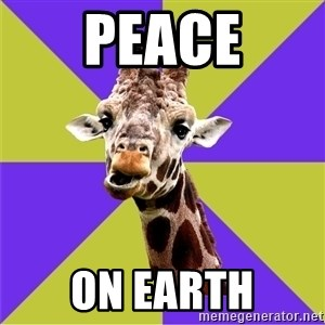 Photoshop Artist Giraffe - PEACE ON EARTH
