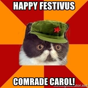 Communist Cat - happy festivus comrade carol!