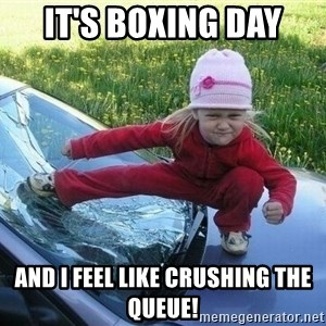 Angry Karate Girl - It's boxing day and I feel like crushing the queue!