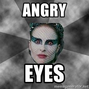 Black Swan Eyes - angry eyes