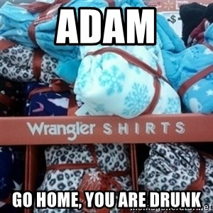 GO HOME--You're Drunk  - Adam Go home, you are drunk