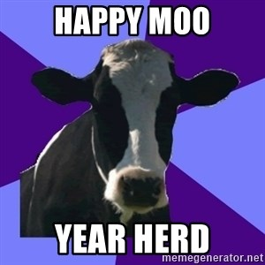 Coworker Cow - Happy Moo Year herd