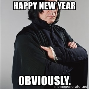 Snape - Happy New Year Obviously.