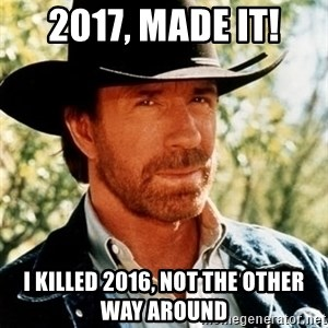 Chuck Norris Pwns - 2017, made it! I killed 2016, not the other way around