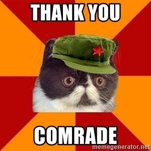 Communist Cat - thank you comrade