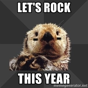 Roller Derby Otter - Let's rock this year