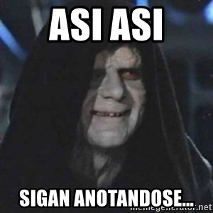 Sith Lord - Asi asi Sigan anotandose...