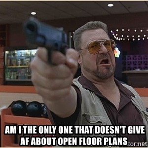 WalterGun -   am i the only one that doesn't give AF about open floor plans
