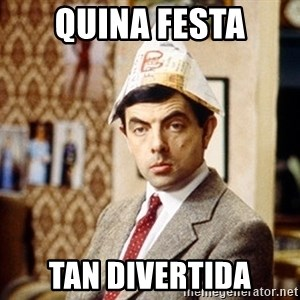 Mr Bean Christmas Hat - quina festa tan divertida
