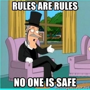 buzz killington - rules are rules No one is safe