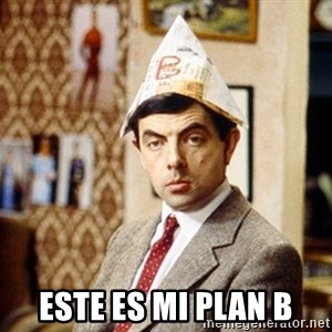Mr Bean Christmas Hat -  este es mi plan b