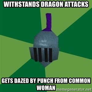 Runescape Advice - Withstands dragon attacks Gets dazed by punch from common woman