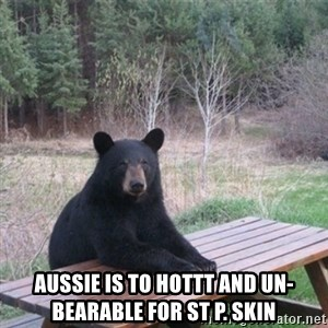 Patient Bear -  Aussie Is To Hottt And Un-Bearable For St P. Skin